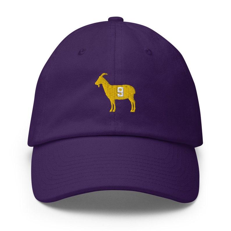 LSU inspired Louisiana legend #9 Goat football New Orleans Saints inspired Cotton Cap