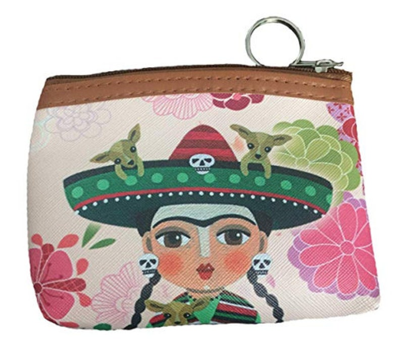 Frida Khalo Women/'s Wallet Zipper Card Holder Clutch Coin Purse Mexico Artist