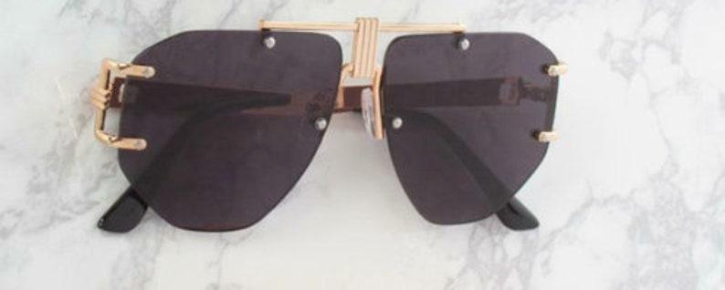 Aviator Sunglasses Rimless Metal Frame