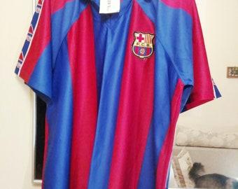 2d870933c41 90s New Barsa FC Certificate Barcelona kappa FC Barca Original new T-shirt  De la Peña New T-shirt L Label Vintage FC T-shirt football club