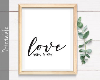 7ad6bec87a1011 Love Finds A Way Wall Art - Instant Download Printable File