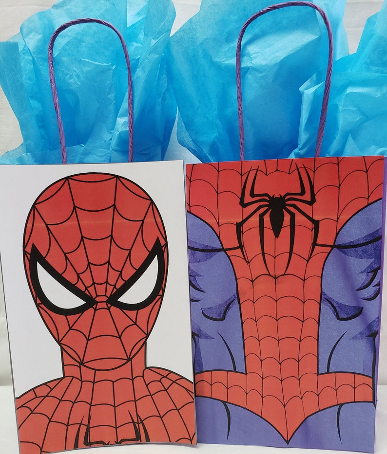 6 Marvel Ultimate Spiderman Birthday Party Loot Treat Favor Gift Bags