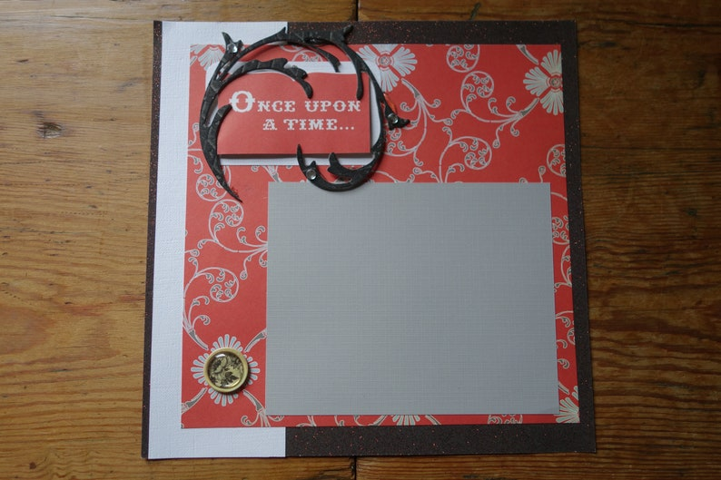 Premade 8x8  Scrapbook page Once Upon A Time