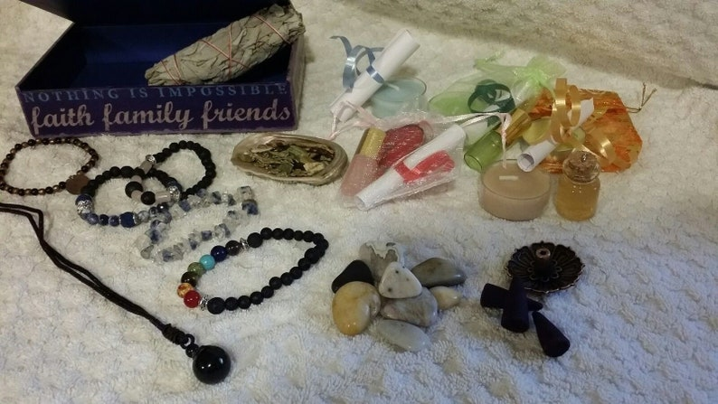 Angel Blessing Box With In-Depth Reading & Spiritual Items Chosen For You!