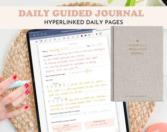 Digital Daily Journal for Mental Health | Peacefully Productive Journal | Hustle Sanely®