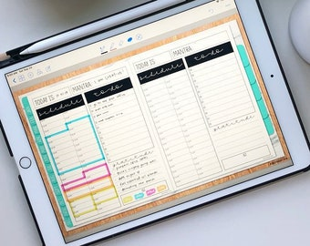 Daily Schedule and To-Do List Insert for Digital Planning