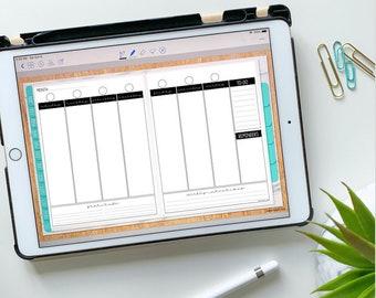 Vertical Weekly Insert for Digital Planning - Undated Blank