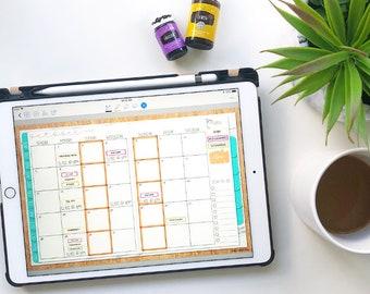 Hustle Sanely ™  Build Your Own Planner Volume 1 | Undated Monthly Digital Planner