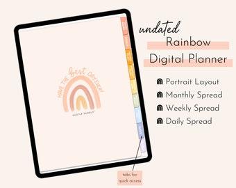 Undated Digital Planner | Hustle Sanely® Home Base Planner