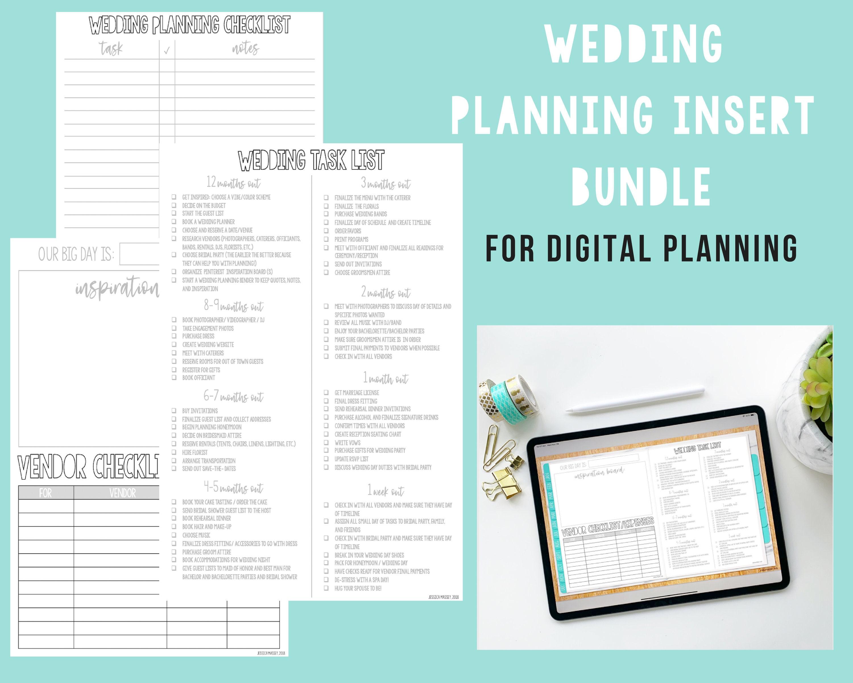 Wedding Planning To Do List Insert for Digital Planning