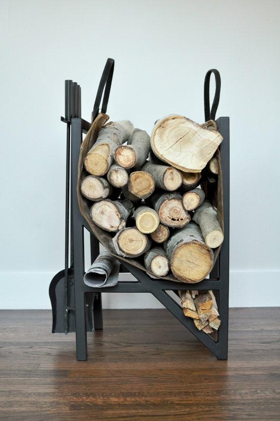 Firewood Rack Fireplace Tools Etsy