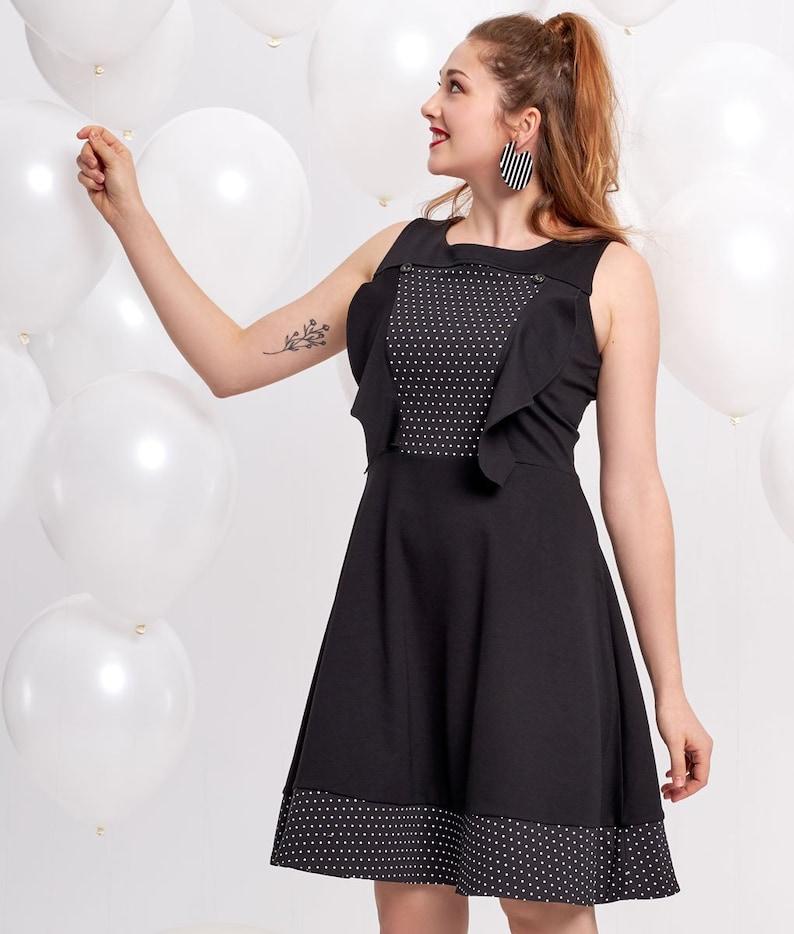 Retro Dress Polka Dots Dress