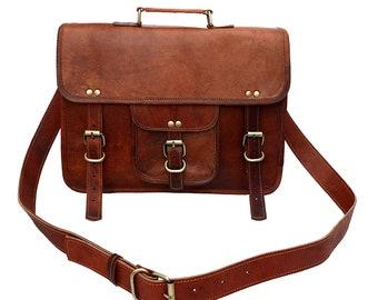 23ebd93286 Leather Messenger Bags for Men Women Mens Briefcase Laptop Bag Best  Computer Shoulder Satchel School Distressed Bag