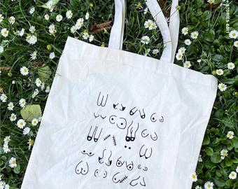 Boob Equality Tote, beach bag, feminist