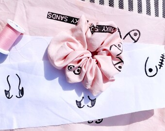 BOOB SCRUNCHIES. 100% Recycled Cotton. Eco-friendly. Body Positive. Zero Waste. Handmade. Feminist. Breast Cancer Awareness. Boobs