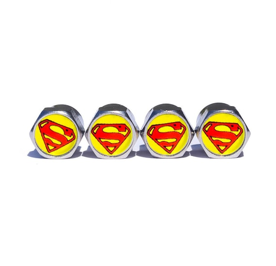 Chrome Surface Set of Four Batman Tire Valve Stem Caps