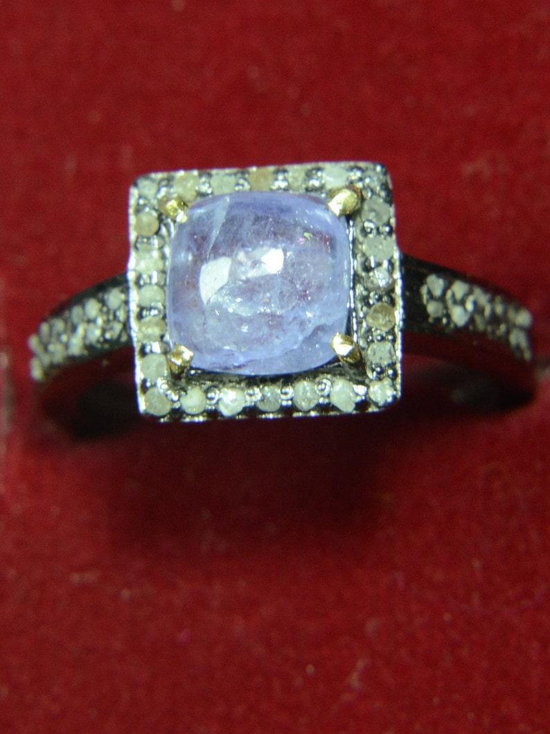 50/% Sale92.5 Sterling Silver Brazilian Kynite Diamond Jewelry Genuine Original Natural Victorian