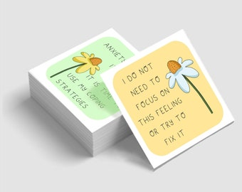 Anxiety Coping Statement Cards - Journey to Wellness digital download