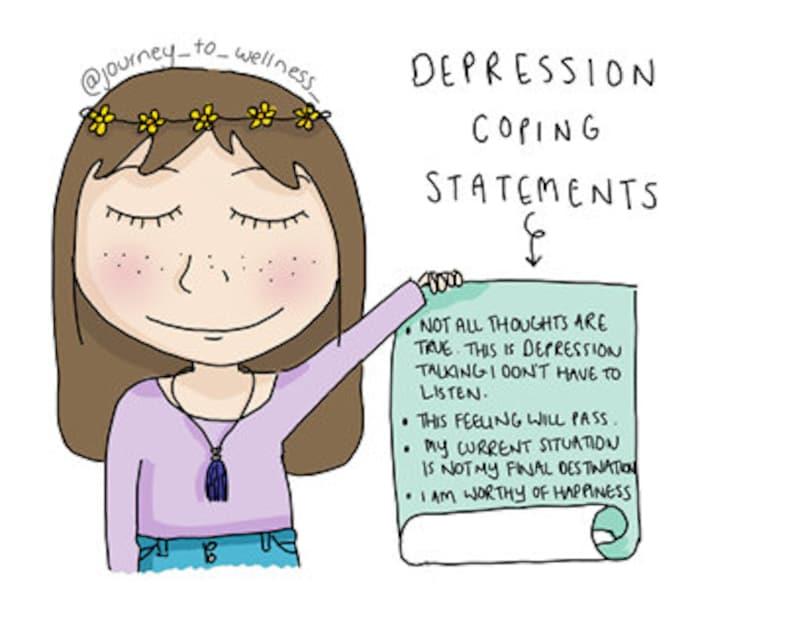 Depression Coping Statements   Etsy