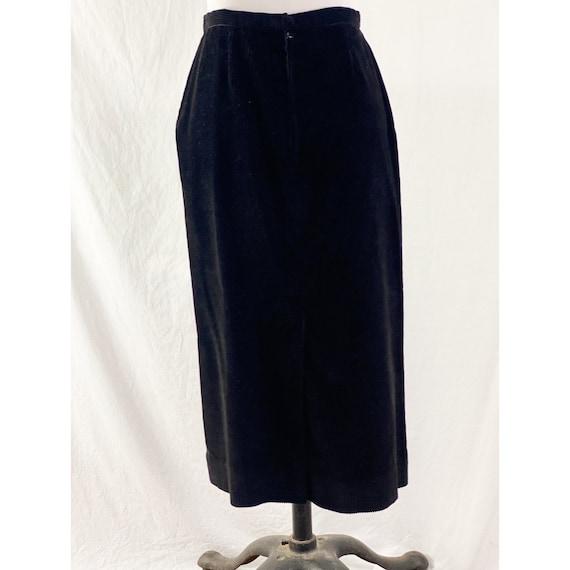 1980's Black Corduroy Skirt By Ralph Lauren - image 4