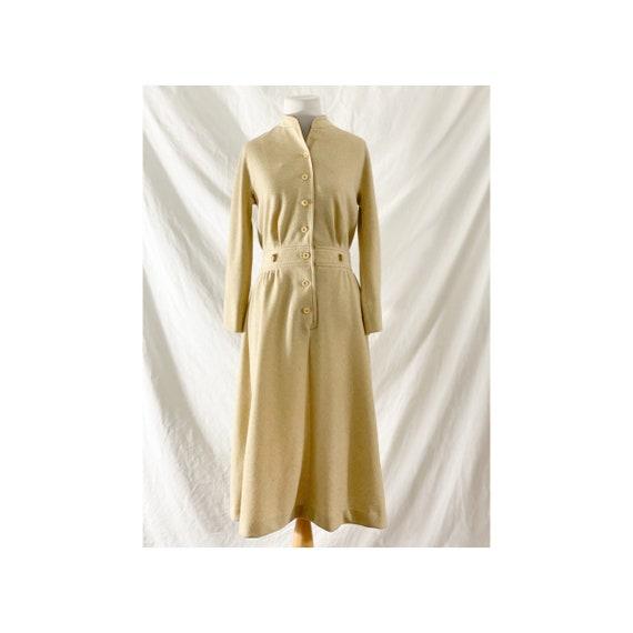1970's Tan Shirt Dress by Kiva - image 1