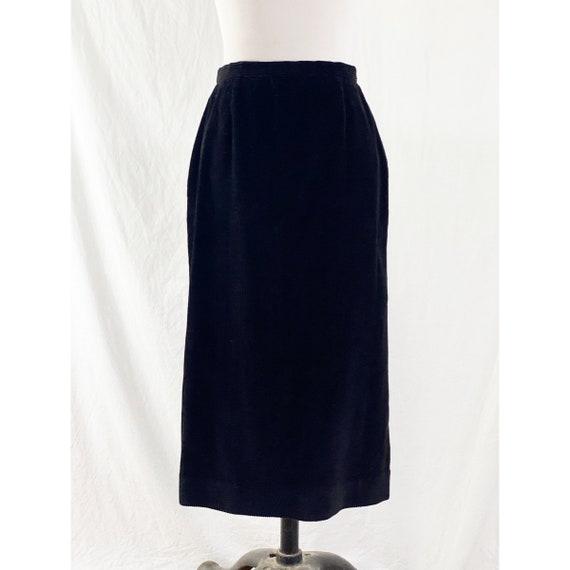 1980's Black Corduroy Skirt By Ralph Lauren - image 2