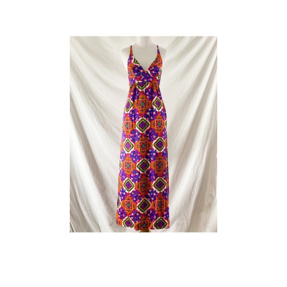 1970's Psychedelic Print Maxi by JCPenny