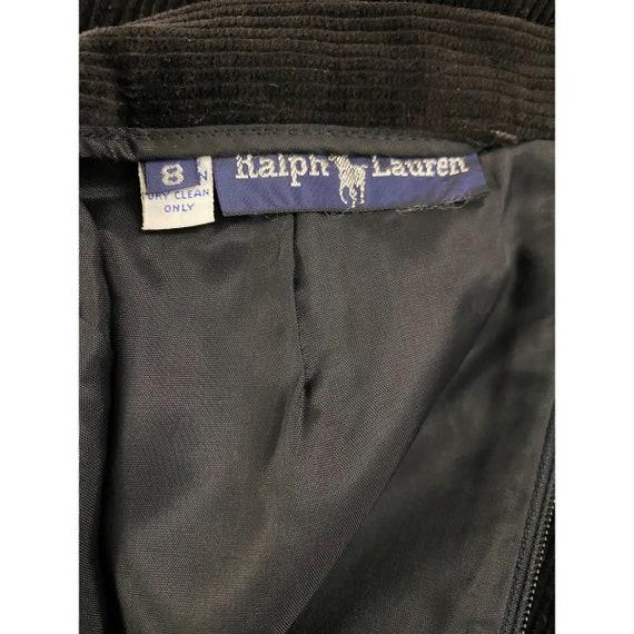 1980's Black Corduroy Skirt By Ralph Lauren - image 5
