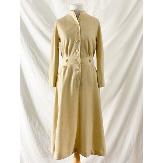 1970's Tan Shirt Dress by Kiva - image 2