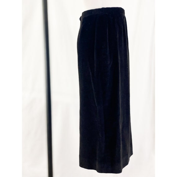 1980's Black Corduroy Skirt By Ralph Lauren - image 3