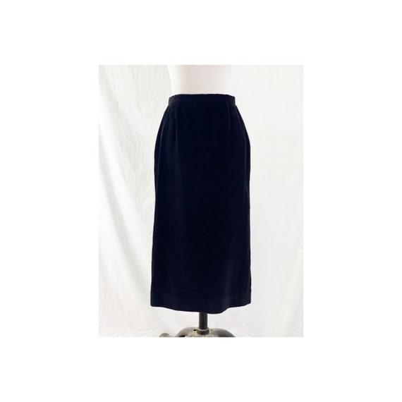 1980's Black Corduroy Skirt By Ralph Lauren - image 1