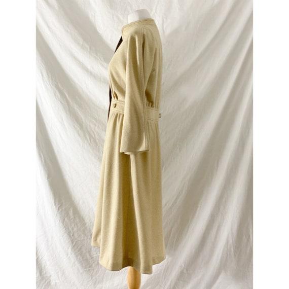 1970's Tan Shirt Dress by Kiva - image 4