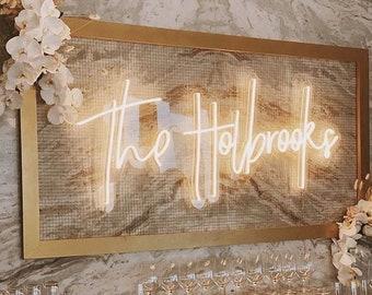 Your Surname Wedding Neon Signs Wedding Decoration Reception Led Light Neon Sign Custom Wedding Backdrop Neon Sign Wedding Gift Home Decor