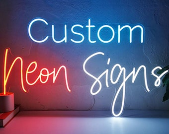 Personalize Flex LED Neon Signs Light for Wedding Party Home Decor Customize Neon Sign Bar Store Logo Neon Sign