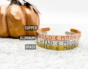 Southern Cowboy Gypsy Stay Wild Moon Child Aztec Stars Moon Cuff Brass Copper Country Gift Western Aluminum Cowgirl Boho