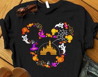 Halloween T Shirt Scary Horror Pumpkin Cat Trick or Treat Gift Kids Children Top