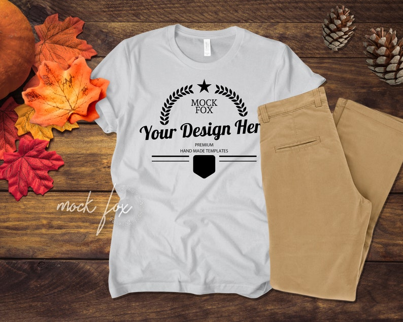 Unisex T Shirt Mockup Bella Canvas 3001 T Shirt Template Etsy