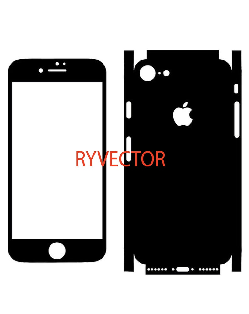 iPhone 7 Vector Cut File - Skin Template