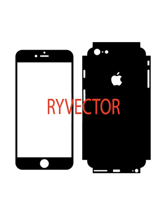 Iphone 6 Plus Vector Cut File Skin Template