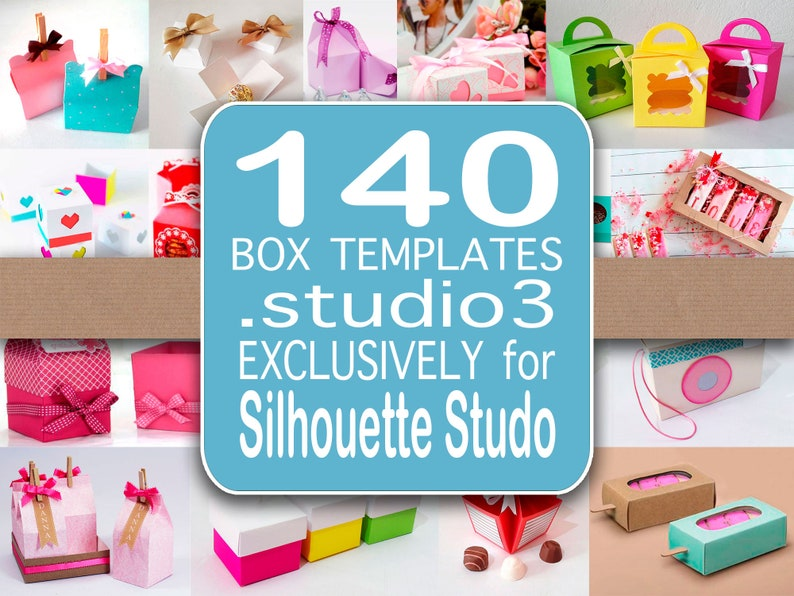 140 Box templates .studio3  Exclusively for Silhouette Studio image 0