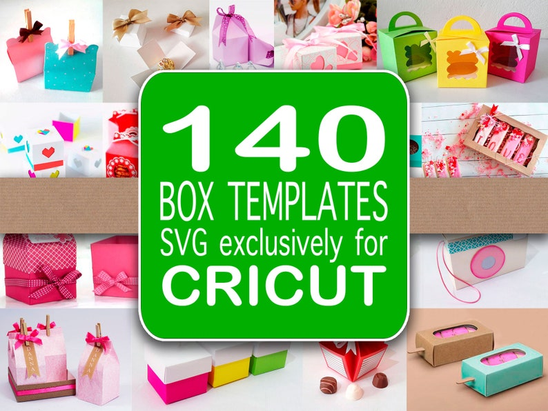 140 Box template SVG  Exclusively for Cricut image 0