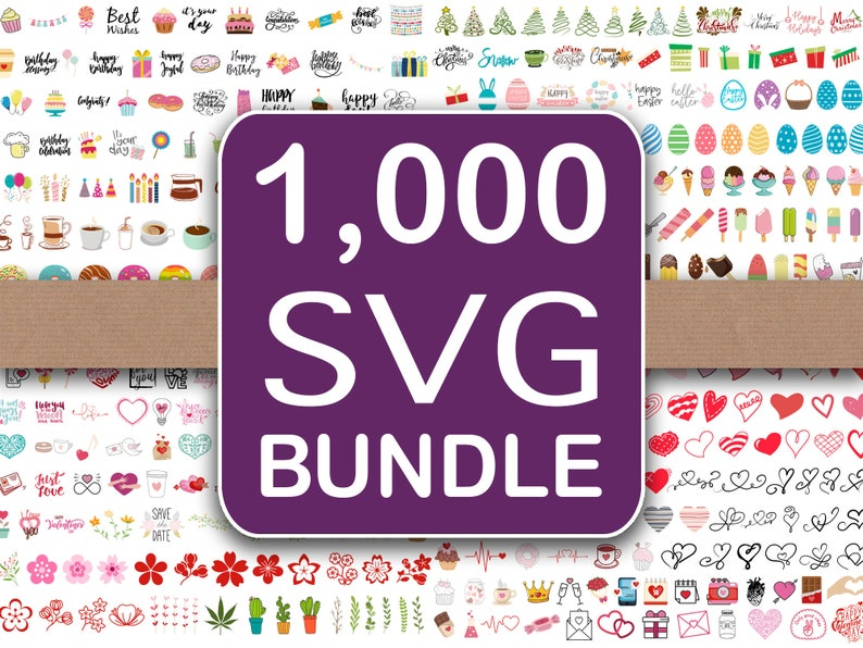 SVG Files 1000 Big Bundle image 0