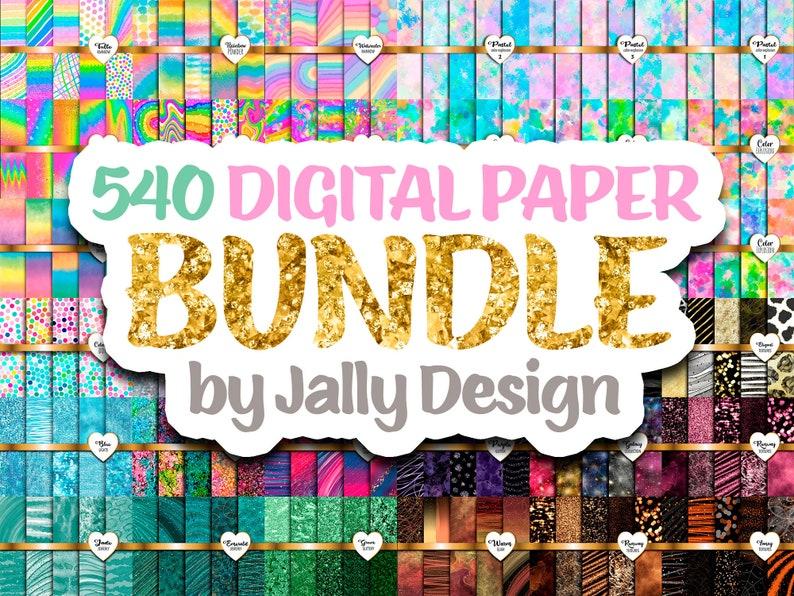 Digital paper bundle  540 different designs image 0
