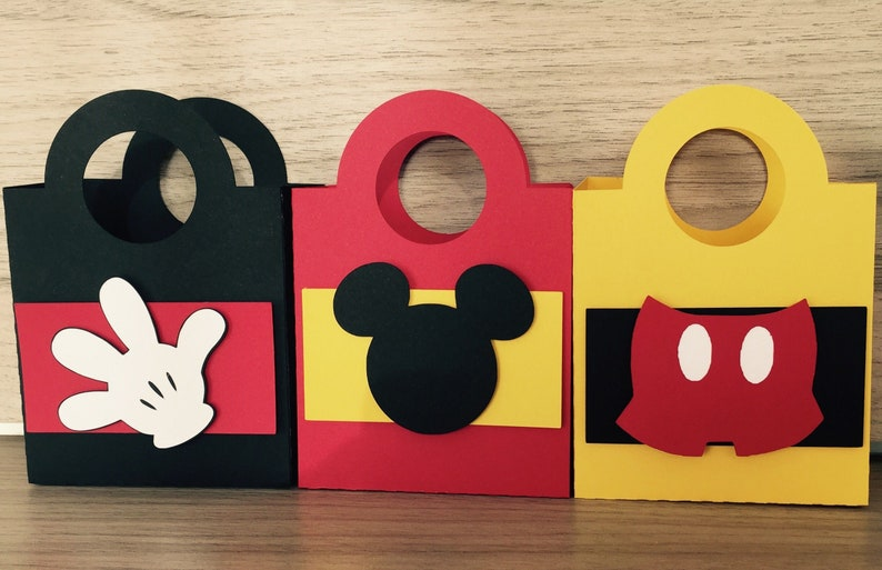 Mickey Mouse paper bag. Disney svg  fcm  dxf and studio3 image 0