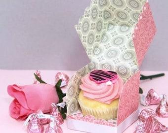 Single cupcake box template SVG Individual cupcake box SVG