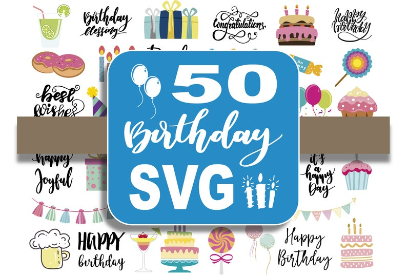 50 Birthday SVG cut files image 0