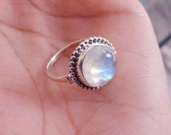 Blue Moonstone Ring Etsy