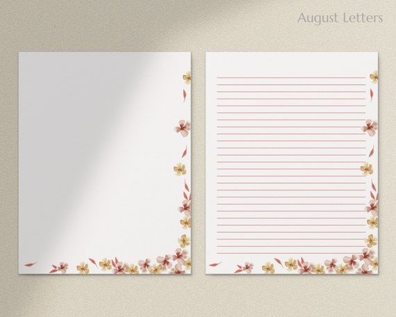 Printable Stationery Digital Download Cherry Tree Stationery and Envelope Set