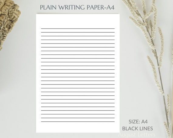 A4 US Letter Personalized Lined paper V Monogram printable lined and white paper