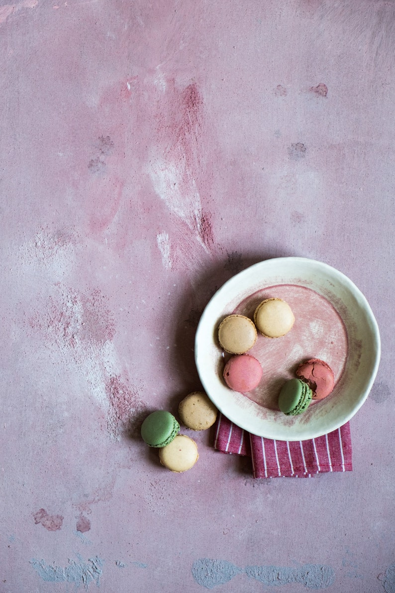 Pink with stains vinyl backdrop ML219 food photography image 0